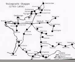 Mappa linea telegrafica napoleonica (Wikipedia)