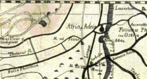 Particolare Mappa del 700 nel quale la Chiesa è nominata coll'appelativo di Madonna ad Fossas