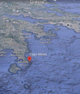 Capo Sant'Angelo oggi Capo Malea (Foto Google Earth)