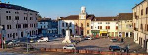 Piazza odierna di Ariano Polesine dove si svolsero i tumulti (Foto sito Rivedelpo)