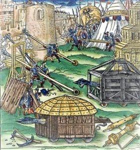 Rappresentazione di un assedio Estense medioevale
