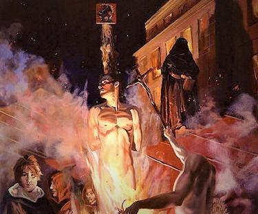Dipinto Rogo di Giordano Bruno (foto web)