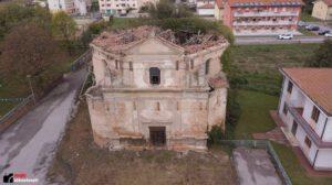 Ripresa aerea della Chiesa di San Marco (foto sito I luoghi abbandonati)