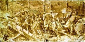 Immagine di una Battaglia notturna sul Po (foto web)