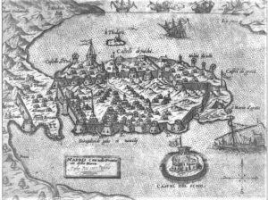 Mappa antica di Nauplion (foto web)